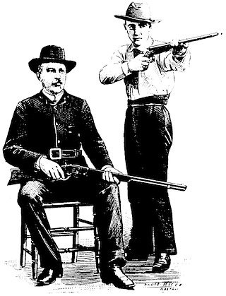 Seated man & shooter